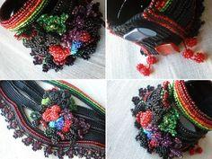 Ilex Tateana ... Freeform Crochet Cuff by irregularexpressions