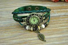 Retro leather wrist watchWomen's handmade wrist by Richardwu, $16.50