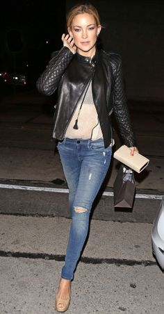 Kate Hudson in Black Orchid Skinny Jeans