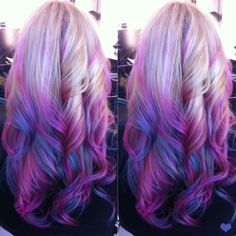 Wow look at this pink purple hair! Xo