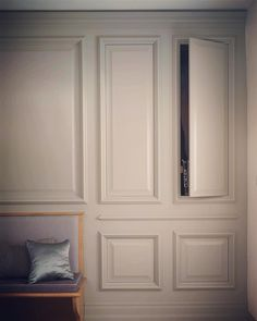 As well as being a classic design feature of the house, wall panelling by cleverly conceals hidden storage. Hidden Rooms, Hidden Closet, Hidden House, Secret Rooms, House Wall, Hidden Storage, Luxury Kitchens, Victorian Homes, Built Ins