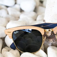RayBans Blue/Gold RayBan sunglasses. Used but in very good condition Ray-Ban Accessories Sunglasses