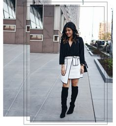 A BLACK AND WHITE OUTFIT FOR THE HOLIDAYS | CHIC TALK