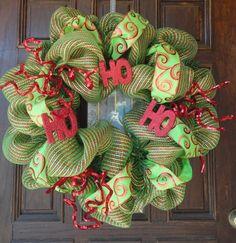 Deco Mesh Christmas Wreath