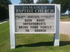 Need home improvements? Bring your family to church                                                                                                                                                     More
