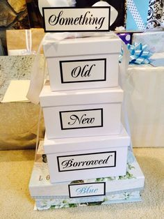 Bridal shower gifts wrapped in a unique way. See more bridal shower ideas at www.one-stop-party-ideas.com