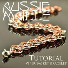 Instructions :: Tutorials :: Aussie Maille Tutorials :: Viper Basket Bracelet Tutorial PDF - Aussie Maille - Chain Maille Supplies. Jump rin...