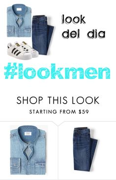 """""""chic men"""" by outfits614 on Polyvore featuring MANGO, Lands' End, adidas Originals, men's fashion y menswear"""