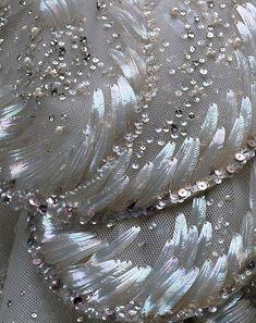 "Dior - ""Venus"" - Fall/Winter 1949-50. Silk, sequins, rhinestones, simulated pearls - detail"