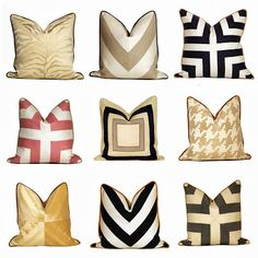 Hollywood Regency Patchwork Chevron Designer Pillow giveaway from CC DeuxVie Interior Accessories, Decor Interior Design, Dream Home Design, Home Office Design, Luxury Cushions, Colourful Living Room, Scatter Cushions, Designer Pillow, My New Room