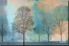Misty Morning II Stretched Canvas Print by Chris Donovan at Art.co.uk