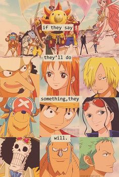 One piece Only because they have no choice due to their captain. Good job, Luffy :D Manga Anime, Dc Anime, Anime One, Anime Stuff, Monkey D Luffy, One Piece Anime, One Piece Quotes, Otaku, The Pirates