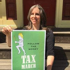 Jennifer Taub tweeted to call for the march after hearing Kellyanne Conway suggest Americans didn't care about Donald Trump's taxes.