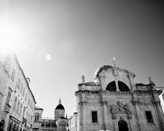 black and white photography dubrovnik croatia architecture art church of st blaise travel decor europe wall art D25 by eireanneilis