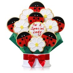 Look at this Special Lady Twelve-Cookie Bouquet by Corso's Cookies Mother's Day Cookies, Summer Cookies, Candy Cookies, Cookies Et Biscuits, Cupcake Cookies, Decorated Cookies, Cookie Bouquet, Flower Cookies, Candy Bouquet