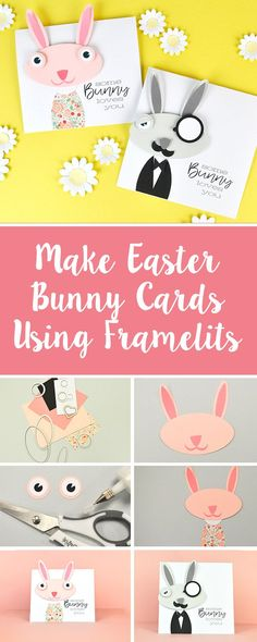 Discover how to make your own DIY Easter bunny cards using only our Sizzix Framelits. It's a super easy & quick craft you can do at home to make someone's Easter. Feature your make with us using #mymakingstory - #handmadecrafts #crafts #sizzix #cardmaking #easter #easterdecor #easterdecorations #eastercrafts #eastercards #handmadeeaster #DIYcards #makersgonnamake