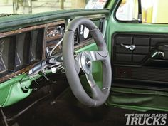 Installing New Steering - Custom Classic Trucks Magazine - Hot Rod Classic Trucks Magazine, Car Restoration, Hot Rods, Cool Cars, Car Stuff, Board, Planks