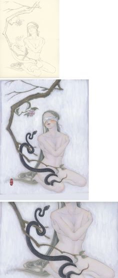 a girl and a snake