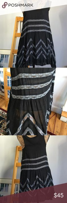 Intimately Free People New just in time for spring Brand-new adorable sundress by Free People in Poland dots lace and gray. Free People Dresses Midi