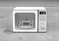 Cafe Microwave by Kevin LCK, via Behance