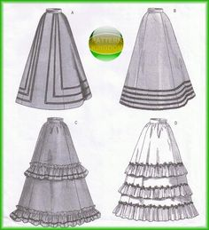 Butterick 3418 Period Authentic Victorian Skirt/Dress Patterns- great skirts with my wedding sash. yeah.