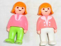 1990 Vintage Playmobil Plastic Dolls by AbigailJeansStuff on Etsy, $6.50