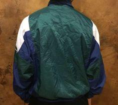 Vintage 90's Reebok Men Windbreaker/Track Jacket by TRILLAHOLIKS Vintage Windbreaker, Reebok, Track, Bomber Jacket, Jackets, Men, Fashion, Down Jackets, Moda