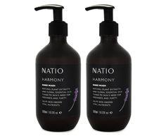 2 x Natio Harmony Hand Wash Primrose Oil, Evening Primrose, Anise Oil, Cocamide Dea, Patchouli Oil, Cedarwood Oil, Lemon Essential Oils, Lavender Oil, Sweet Almond Oil