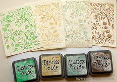 Layers of ink: Debossed Inked Card Set
