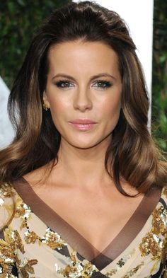 "Kate Beckinsales Elegant Hairstyle Is Perfect For Long Hair, 2012. I love this color... Subtle ""highlights"". Beautiful."