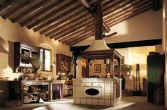 Country Style Kitchen Pictures From Marchi Cucine Küchen Design, Design Case, Home Design, Interior Design, Old Country Kitchens, Country Kitchen Designs, Kitchen Rustic, Design Kitchen, Vintage Kitchen