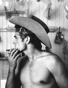 James Dean, 1950s. In a cowboy hat...I mean, come on! I was born in the wrong generation