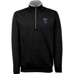Antigua Men's San Jose Earthquakes Leader Black Quarter-Zip Jacket, Size: Medium, Team