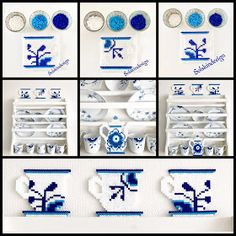 Made by Me: DIY på musselmalede kopper og kande i Hamaperler Pearler Bead Patterns, Perler Patterns, Pearler Beads, Cute Crafts, Bead Crafts, Norway Design, Hama Beads Design, Beaded Boxes, Iron Beads