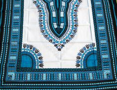 Thai Craft Warehouse - unstitched African Dashiki fabric for one Africa poncho…