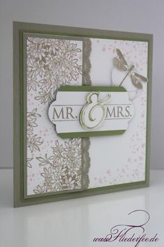 "Stampin' Up! wedding card, ""Awesomely Artistic"", ""Mr.&Mrs."""