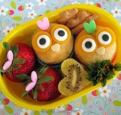 Bento box baby owl biscuits