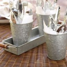 Shop galvanized metal pail, set of 3 from Pottery Barn. Our furniture, home decor and accessories collections feature galvanized metal pail, set of 3 in quality materials and classic styles. Pottery Barn, Low Country Boil, Country Fall, French Country, Sauce Barbecue, Condiment Sets, Tiered Stand, Decoration Inspiration, Decor Ideas