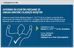 Bet-At-Home : 350 Eur pentru un roman norocos! - Ponturi Bune