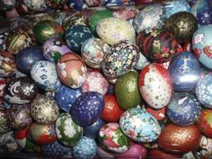 Washi paper covered eggs