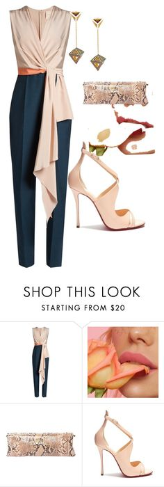 """Untitled #275"" by silviaplatsis ❤ liked on Polyvore featuring Roksanda, Prada, Christian Louboutin and Noor Fares"