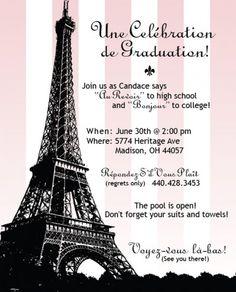 My graduation party ideas on pinterest paris party eiffel towers and graduation parties - Salon des seniors paris invitation ...