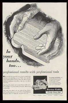 Porter Cable ad,(1956) Illustration by David Stone Martin.