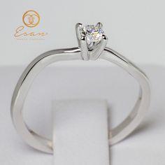 Inel de logodna din aur cu diamant ES11-1 Aur, Engagement Rings, Jewelry, Enagement Rings, Wedding Rings, Jewlery, Bijoux, Schmuck, Pave Engagement Rings