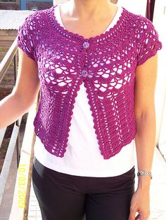 crochet vest / chaleco en crochet by tedevainilla : ), via Flickr