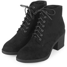 TopShop Best Lace-Up Boots ($55) ❤ liked on Polyvore featuring shoes, boots, ankle booties, topshop, topshop boots, lace front boots, laced up booties and lace up boots