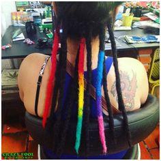 Dreads nos cabelos de Alessandra de Caxias do Sul/RS