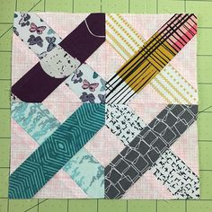 #thesplendidsampler First Stitch Block by @verykerryberry and fabrics by @artgalleryfabrics