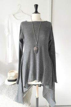 AMALFI QUEEN Linen Tunic, GREY