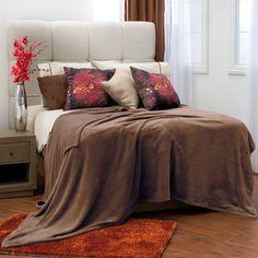 Cobertor Coral Flannel Ontario Color Café #Recamara #Cobertores #Hogar #IntimaHogar #Decoracion